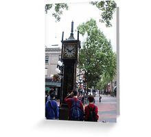 Steam Operated Clock, Vancouver, B.C. Greeting Card