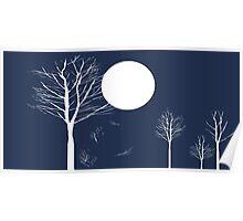 Full Moon Night Poster