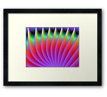 Neon Fan Framed Print