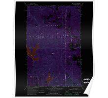USGS Topo Map Washington State WA Bead Lake 239969 1968 24000 Inverted Poster