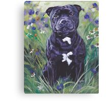 Staffordshire Bull Terrier Fine Art Painting Canvas Print