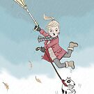 Bit windy outdoors!! by MissIllustrator