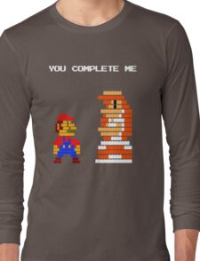 You complete me 8-bit mario Long Sleeve T-Shirt