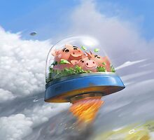 Flying pigs by Roman Shipunov