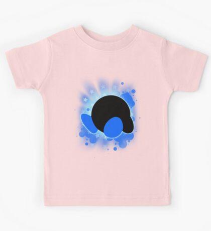 Super Smash Bros. Blue Kirby Silhouette Kids Tee