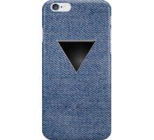 Black Triangle on Denim iPhone Case/Skin