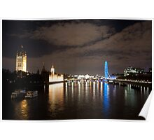 Westminster and the London Eye Poster
