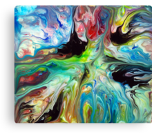 Abstract Fluid Painting 55 Canvas Print