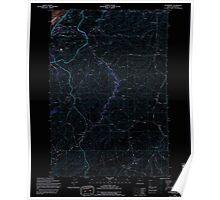 USGS Topo Map Oregon OR Petersburg 281075 1994 24000 Inverted Poster