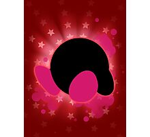 Super Smash Bros. Red Kirby Silhouette Photographic Print