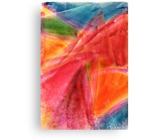 Red in Motion Watercolor Painting Canvas Print