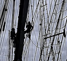 Sailing ship maintenance  by Woodie