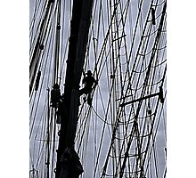 Sailing ship maintenance  Photographic Print