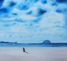 Lovers and Maidens with Ailsa Craig by Stuart Kirby
