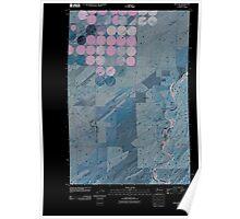 USGS Topo Map Washington State WA Welland 20110404 TM Inverted Poster