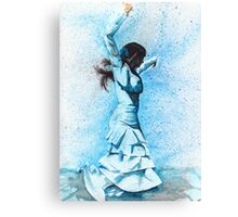 Bailaora de flamenco - Azul Canvas Print