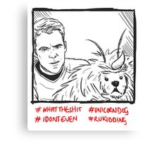Kirk Meets UnicornDog Canvas Print