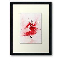 Bailaora de flamenco - Rojo Framed Print
