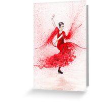 Bailaora de flamenco - Rojo Greeting Card