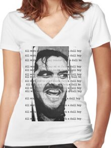 All work and no play makes Jack a dull boy Women's Fitted V-Neck T-Shirt
