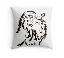 Tribal Wolf 2 Throw Pillow