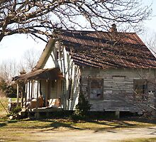 Little House in North Carolina Look at this Large to See the Faces in the Window by BCallahan