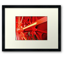 Red Gears On The Avery Framed Print