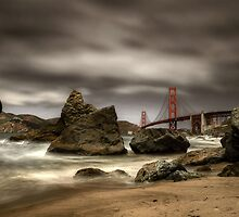 Golden Gate Bridge from Marshall Beach by Icarus66