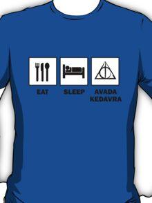 Eat Sleep Avada Kedavra T-Shirt