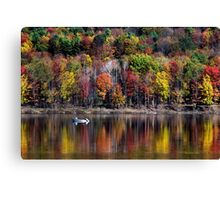 Vanishing Autumn Landscape Canvas Print