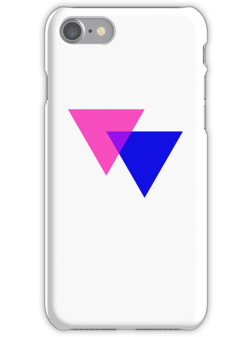 Pink & Blue Triangles on White by x-pressions