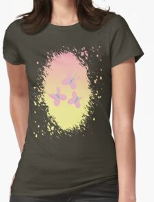 Fluttershy's Cutie Mark Womens Fitted T-Shirt
