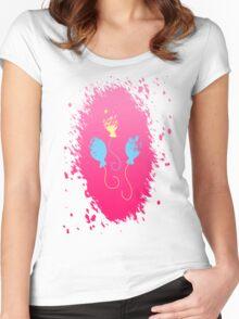 Pinkie Pie's Cutie Mark Women's Fitted Scoop T-Shirt