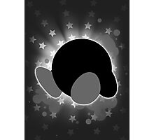 Super Smash Bros. White/Grey Kirby Silhouette Photographic Print