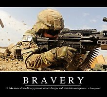 Bravery: Inspirational Quote and Motivational Poster by StocktrekImages