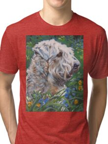 Soft-coated Wheaten Terrier Fine Art Painting Tri-blend T-Shirt