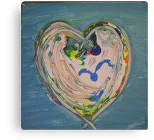 Seagull Heart Canvas Print