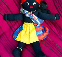 African Doll & Baby by Bev Pascoe