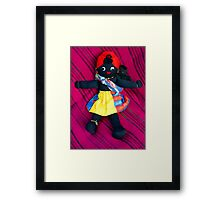 African Doll & Baby Framed Print