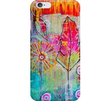 Mixed Media Feather iPhone Case/Skin