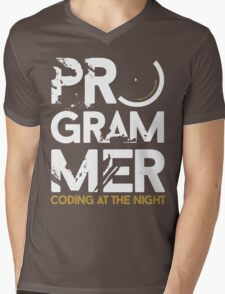 programmer - coding at the night Mens V-Neck T-Shirt
