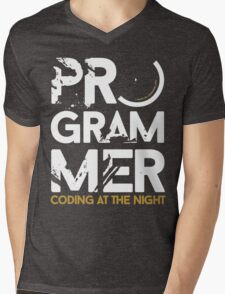 programmer - coding at the night Mens V-Neck T-Shirt