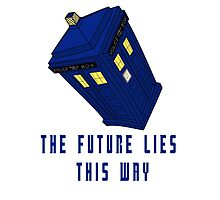 The future lies this way - Dr Who Photographic Print