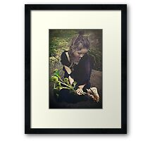 toes are like roots Framed Print