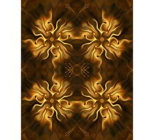 Autumnal flower pattern Photographic Print