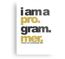 I am a programmer Metal Print