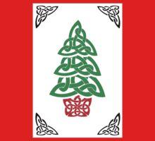 Celtic Christmas Tree (simple) One Piece - Long Sleeve