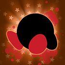 Super Smash Bros. Orange Kirby Silhouette by jewlecho