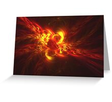 Fractal Flame Explosion Greeting Card