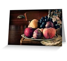 ~ still life with summer fruit ~ Greeting Card